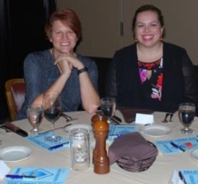 Left: Beth Kitson (President of AWMI Seattle Chapter), Right: Shawna Smith, Pioneer Industries
