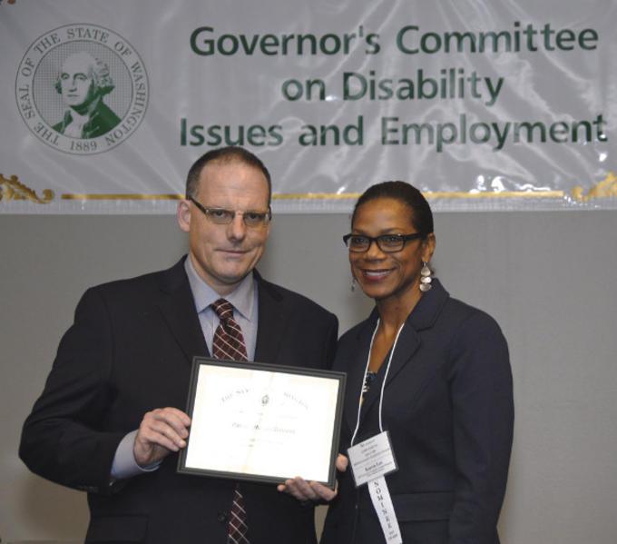 Karen Lee at Gov. Awards